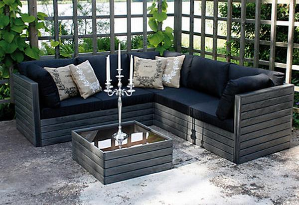 gartenmobel selber bauen lounge. Black Bedroom Furniture Sets. Home Design Ideas